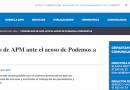 """Periodistas """"acosados"""" y """"presionados"""" por el """"equipo directivo de Podemos"""""""
