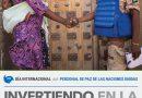 «Invirtiendo en la paz del mundo» lema en el Día Internacional del Personal de Paz de las Naciones Unidas