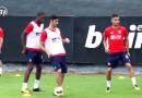 Vídeo: Guedes ya conoce a sus nuevos compañeros