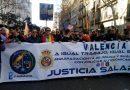 Casi un millar de agentes de Policía y Guardia Civil reclaman en Valencia, una equiparación salarial real