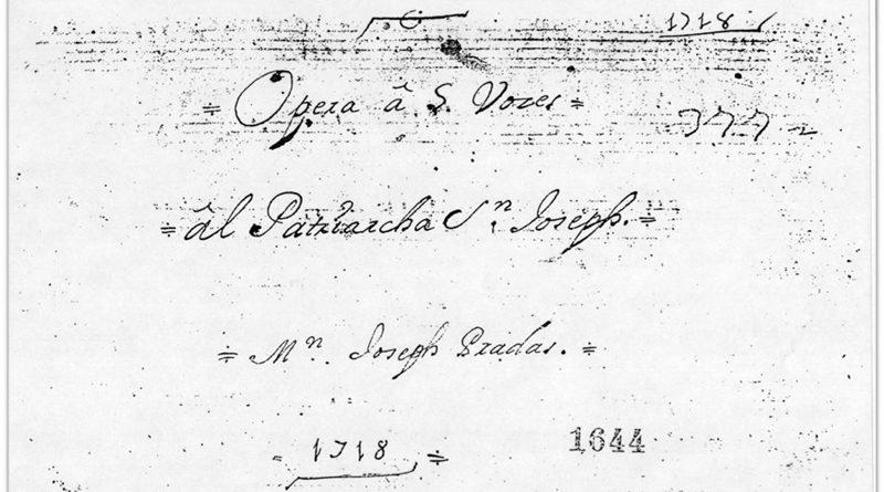 La primera ópera valenciana, dedicada a San José, cumple su 300 aniversario