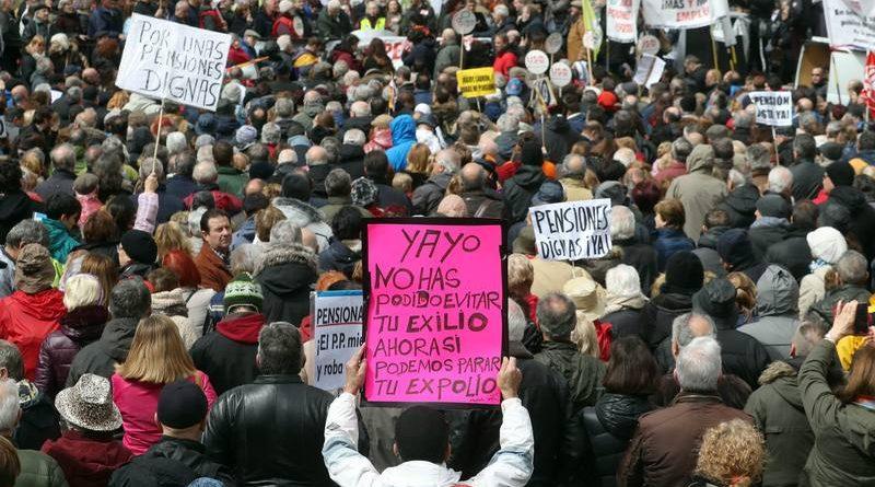 Decenas de miles de personas en toda España salen a la calle para reclamar unas pensiones dignas.