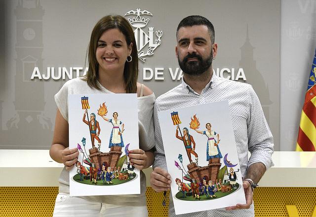 """Valencia """"planta"""" una falla en Maguncia por el 40 aniversario del """"Hermanamiento"""""""