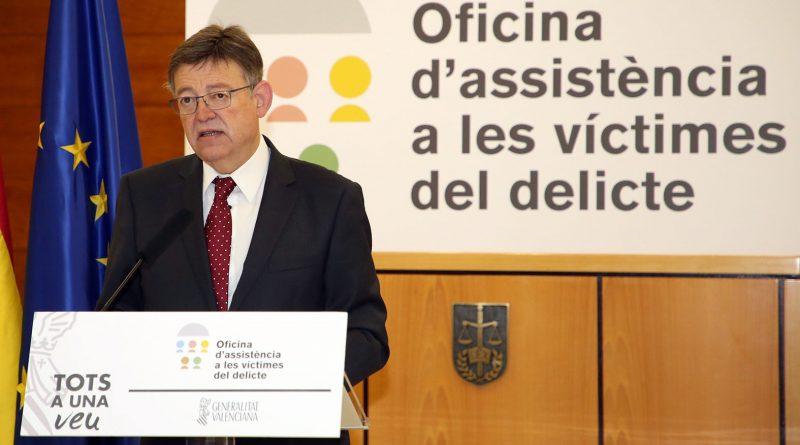 """Puig: """"la Generalitat ampliará la red de asistencia a las víctimas del delito"""""""