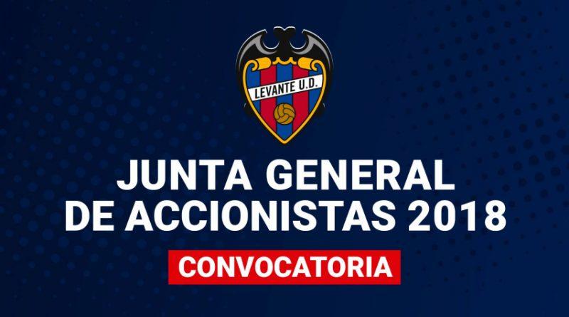 El Levante UD, convoca su Junta General de Accionistas