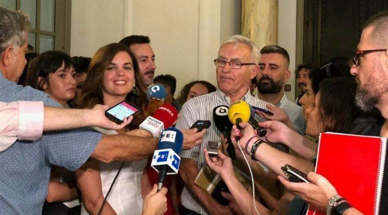Joan Ribó Y Sandra Gómez anuncian el acuerdo de gobierno para el Ayuntamiento de València durante el mandato 2019-2023