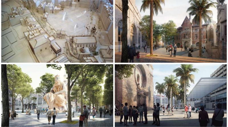 EL ayuntamiento inicia el proceso de adjudicación para contratar la ejecución de las obras del entorno de la Lonja y la Plaza Ciudad de Brujas