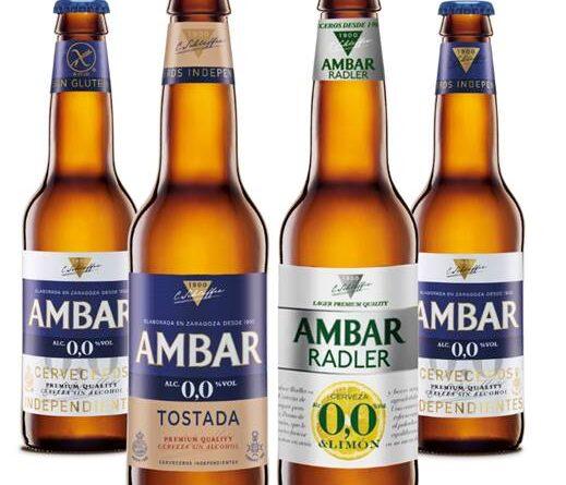 AMBAR lanzaAmbar 0,0 tostada y Ambar radler 0,0, dos nuevas variedades sin alcohol