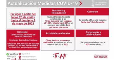 Ximo Puig anuncia la ampliación del horario de apertura de la hostelería y el comercio hasta las 22 horas