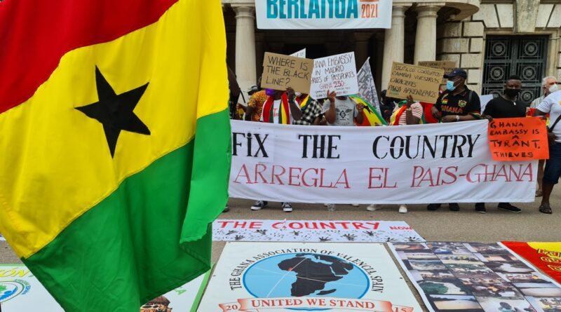 Ghana se manifiesta en Valencia