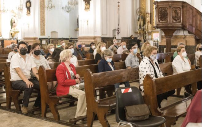 Magnífica conferencia del Santo Cáliz de don Juan Agustín Blasco Carbó en Santa Maria del Mar
